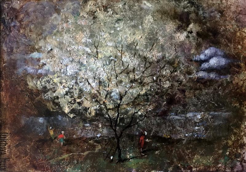 «Пора цветения Персика» Композиционный пейзаж