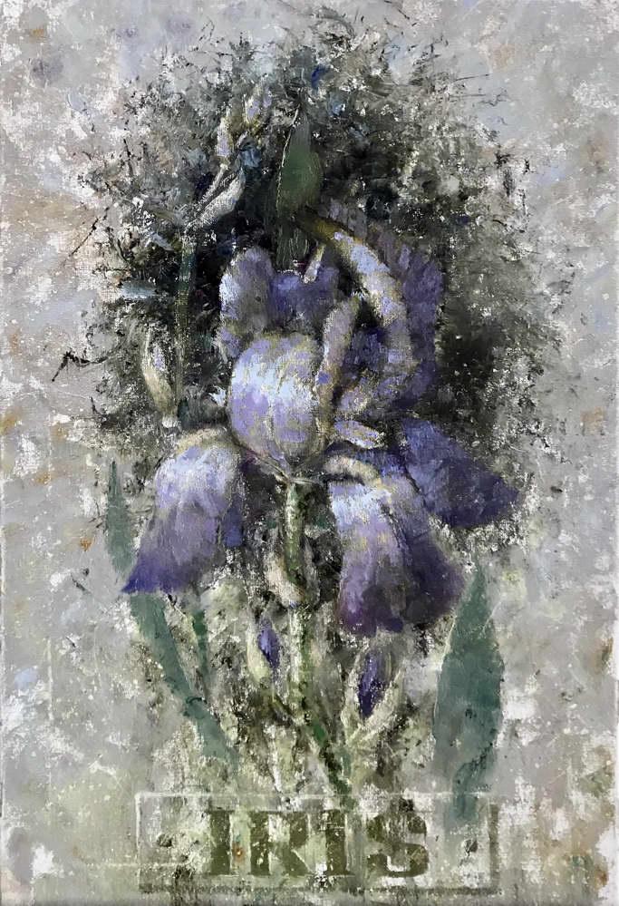 Три портрета цветка Ириса