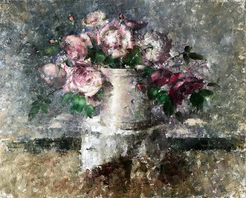 Многослойный розовый букет