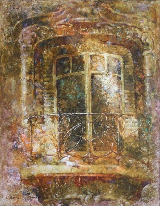 Антикварный балкончик