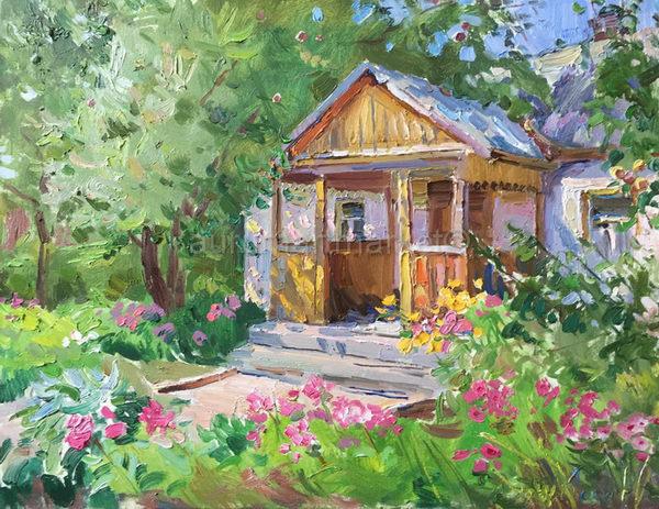 В цветущем саду 55х70 - 2016