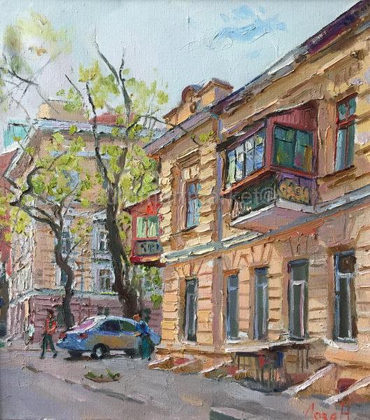 Весна. Старобазарный сквер 55х50 - 2016
