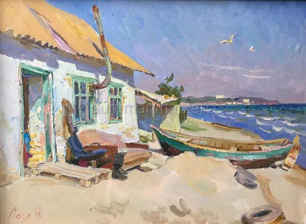 Дом черноморских рыбаков 55х75 - 2016