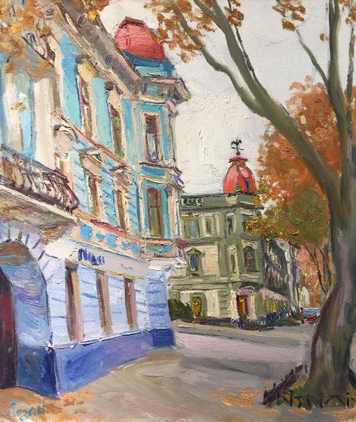 Пушкинская. Шорох желтых листьев 70х60 - 2011