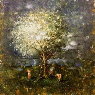 Пикник под цветущими яблонями