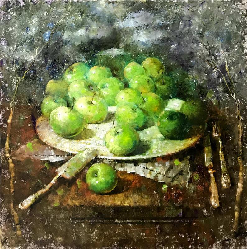 Дикие зеленые яблочки