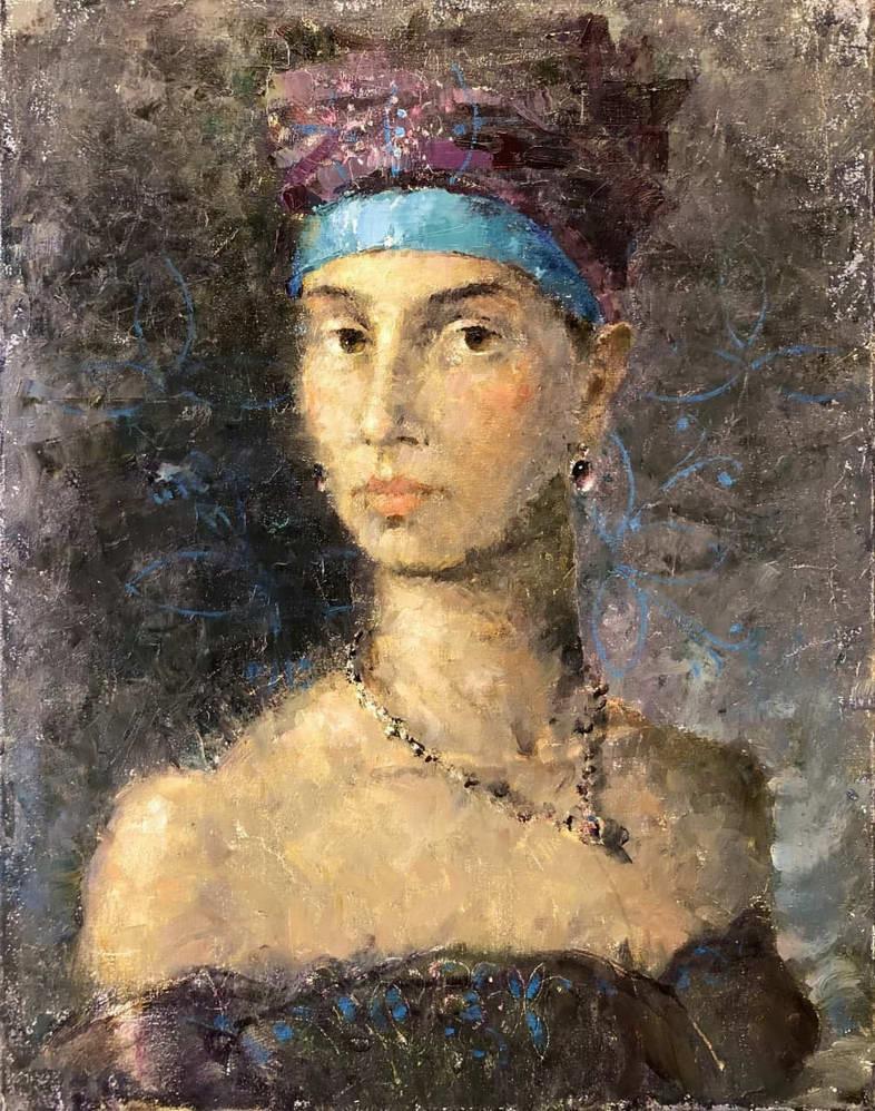 Погруднный портрет по Вермееру