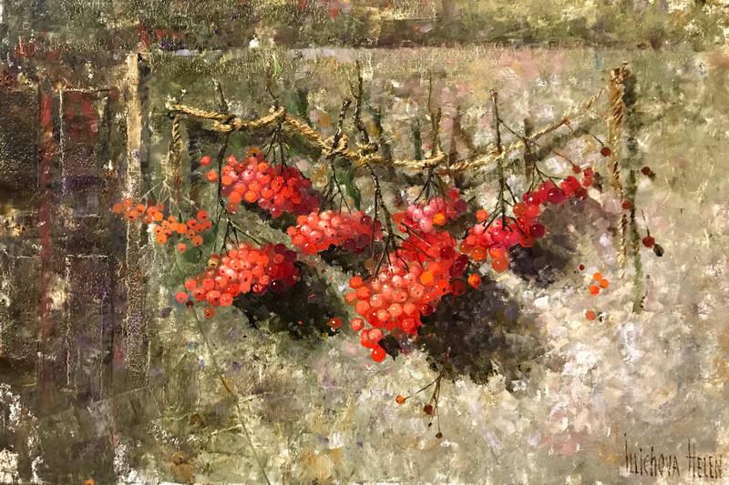 Алые гроздья рябины