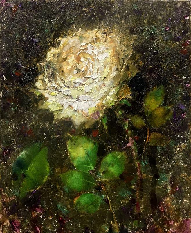 Три белых розы 3