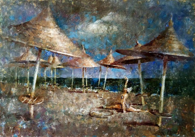 Зонтики на песке